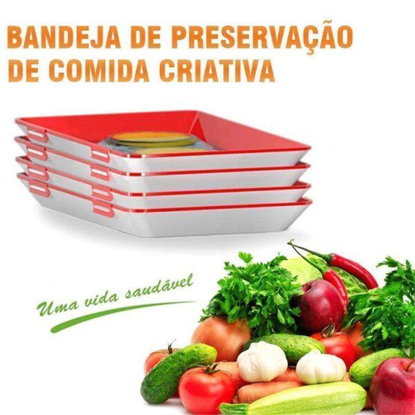 Bandeja Criativa de Preservação de Alimentos - Loja Oficial   XploudShop