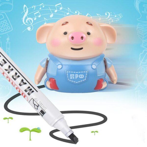 Brinquedo de Porco Indutivo com Caneta Criativa Educacional - Loja Oficial | XploudShop