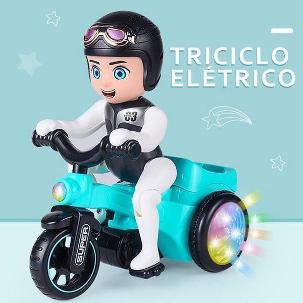 Brinquedo de triciclo elétrico com música e luz - Loja Oficial   XploudShop