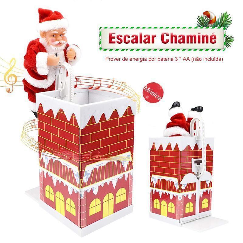 Brinquedo Agradável do Presente de Escalada Bonito da Chaminé de Santa com Música - Loja Oficial   XploudShop