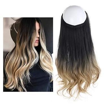 Aplique de Cabelo Ombré Hair Preto a Loiro Wig Extension - Loja Oficial | XploudShop