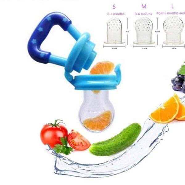 Bico Alimentador Dosador Chupeta Frutas Alimentos Silicone Leve - Loja Oficial | XploudShop