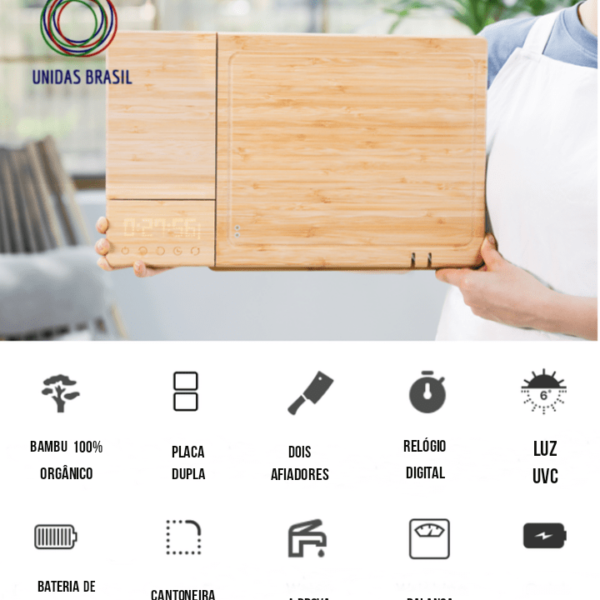 Smart Food Chef - Tábua de Corte Inteligente - Loja Oficial | XploudShop