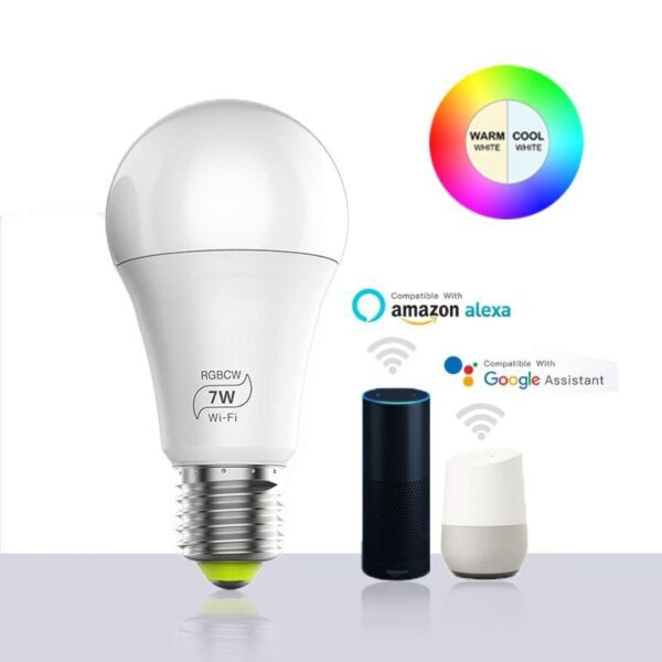 Lâmpada Mágica LED 7W CORES RGB WIFI Smart Home Programável - Loja Oficial | XploudShop
