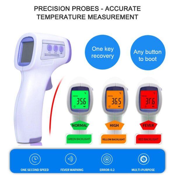Termômetro Infravermelho Digital LED 3 Cores Sem Contato Multi Função Bebê Adulto  Frete Expresso DHL - Loja Oficial | XploudShop