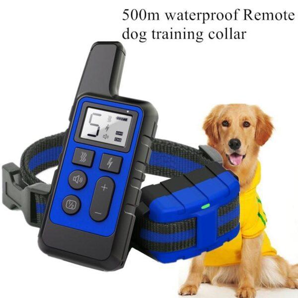Coleira de Choque para Treinamento de Cachorros à Prova d'Água Controle Remoto 500m - Loja Oficial | XploudShop