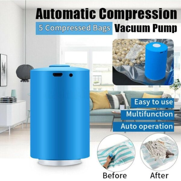 Air Compress Mini Compressor a Vácuo Portátil Embalagens Alimentos Roupas - Loja Oficial | XploudShop