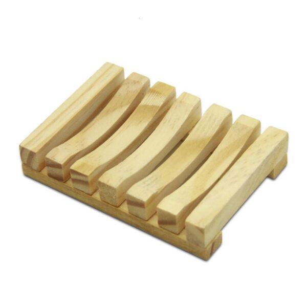 Suporte de Sabão de Madeira de Bambu Prato para Organização do Banheiro - Loja Oficial | XploudShop