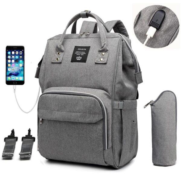 Bolsa Mochila Maternidade Safety 1st Multifuncional com USB - Loja Oficial | XploudShop