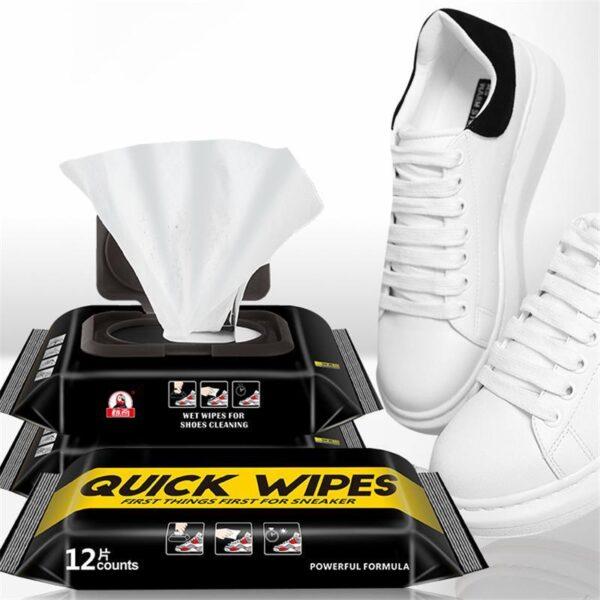 Quick Wipes Lenço Descartável de Sapato e Tênis Rápido Higiênico Lustra e Limpa - Loja Oficial | XploudShop