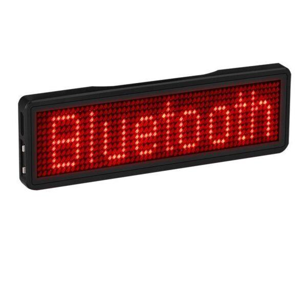 Crachá de LED Letreiro Eletrônico Programável com Aplicativo Mini Display Portátil Bluetooth - Loja Oficial | XploudShop