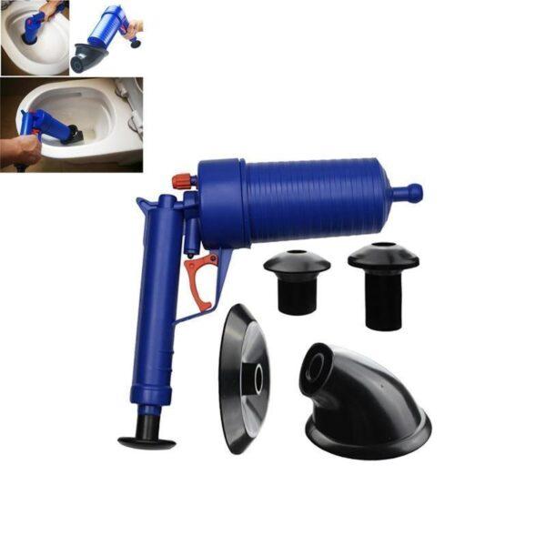 Desentupidor à Vácuo Pistola de Bomba de Pressão Power Air para Pias e Ralos Encanamentos - Loja Oficial   XploudShop