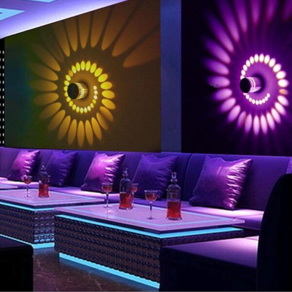Luz LED Espiral Buraco Negro RGB Iluminação de Parede com Efeito Colorido - Loja Oficial | XploudShop