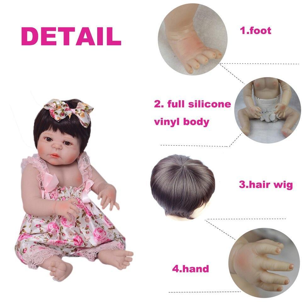 Wholesale 57cm Full Silicone Reborn Baby Doll 100% Handmade Reborn Babies Lifelike Girl Body For Kids Christmas or Birthday Gift - Loja Oficial   XploudShop
