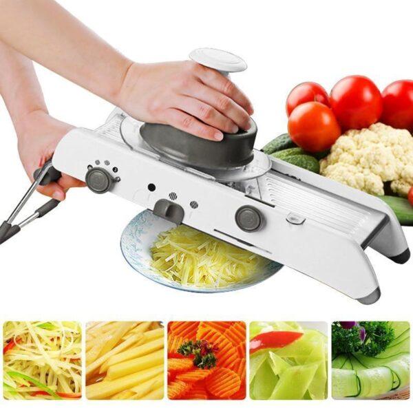MultiSlicer® - Cortador De Legumes  Fatiador Ralador Com Regulagem Em Inox Profissional. - Loja Oficial | XploudShop