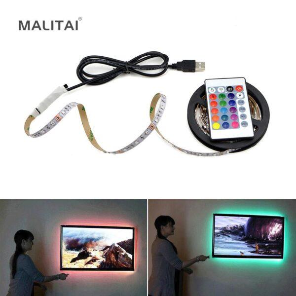 Fita de Luzes LED RGB Luminária Flexível USB Controle Remoto - Loja Oficial | XploudShop