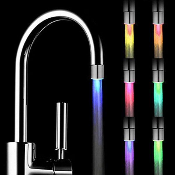 Bico de Torneira LED Colorido para Pia de Banheiro e Cozinha 7 Cores Brilhantes - Loja Oficial | XploudShop