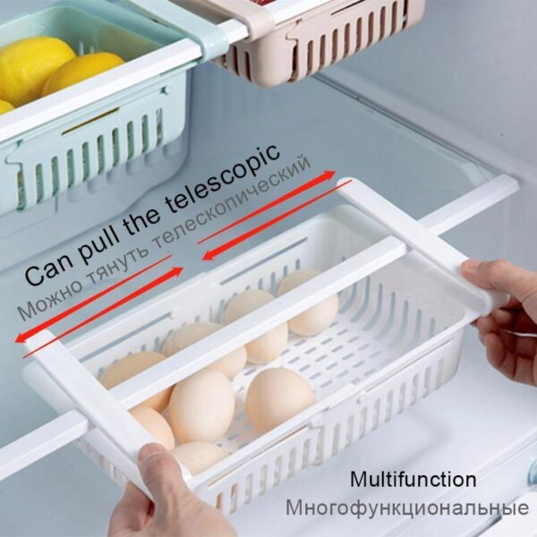 Rack Organizador para Armazenamento de Alimentos em Geladeira Prateleira Ajustável de Cozinha - Loja Oficial | XploudShop