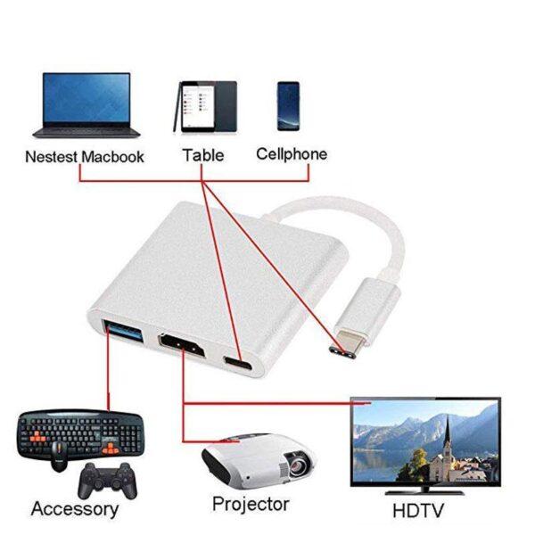Adaptador USB 3.0 Tipo C HUB Thunderbolt 3 HDMI 4K - Loja Oficial | XploudShop