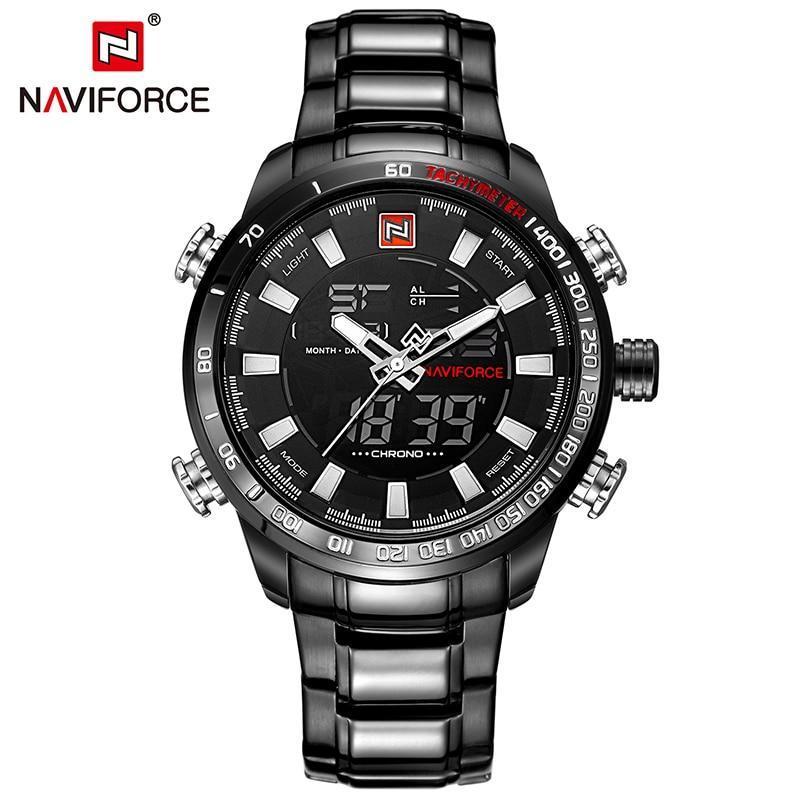 Relógio de Quartzo Black Gold Naviforce® - Loja Oficial | XploudShop