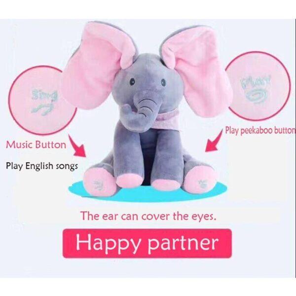 Elefante de Pelúcia Peek a Boo - Brinquedo Interativo - Loja Oficial   XploudShop