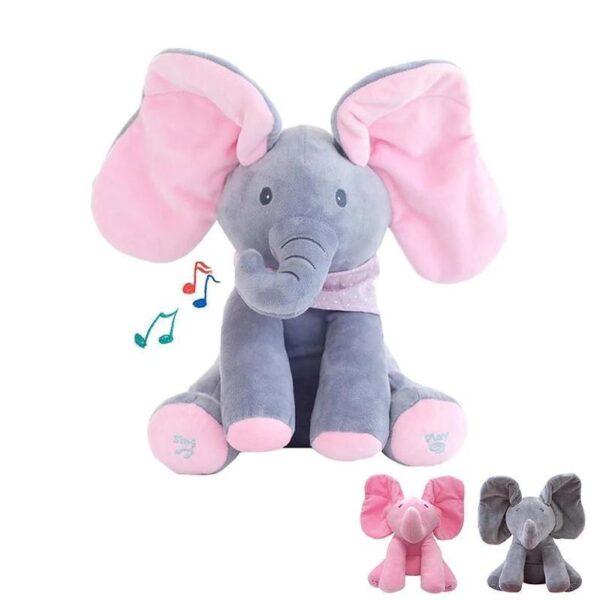 Elefante Animado de Pelúcia Interativo Musical Peek a Boo Brinquedo Muito Fofo - Loja Oficial | XploudShop