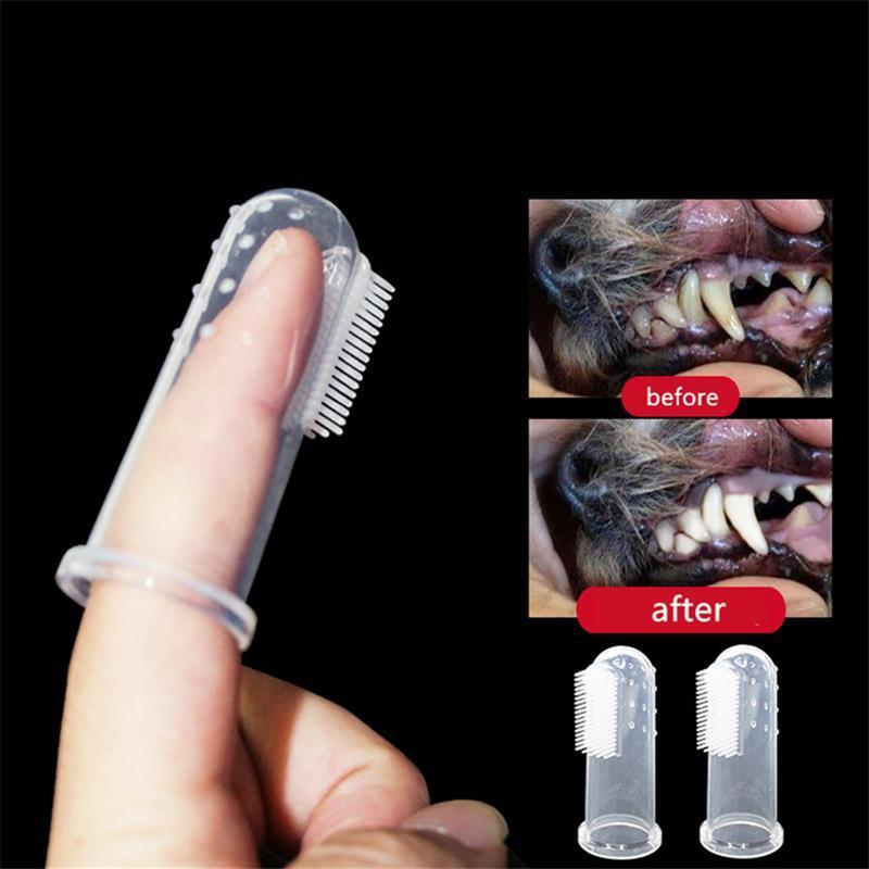 Escova Teddy Pet Dental Care Super Macio Escova de Dentes Silicone para Animais de Estimação - Loja Oficial | XploudShop