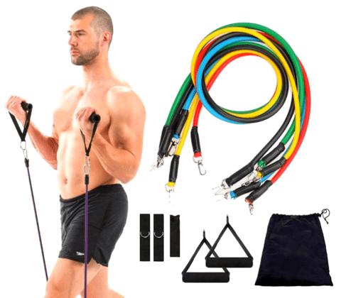 Kit Elásticos Extensores de Treinamento Fitness Exercício em Casa - Loja Oficial | XploudShop