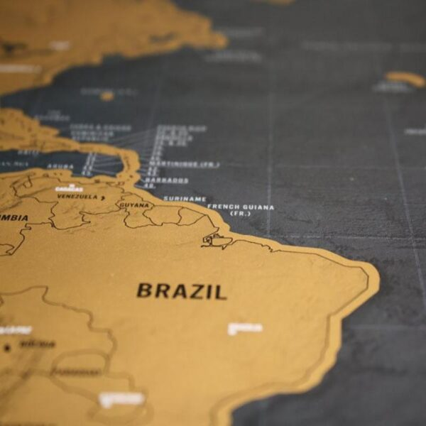 Pôster Mapa Mundi de Viagens Raspadinha - Loja Oficial | XploudShop