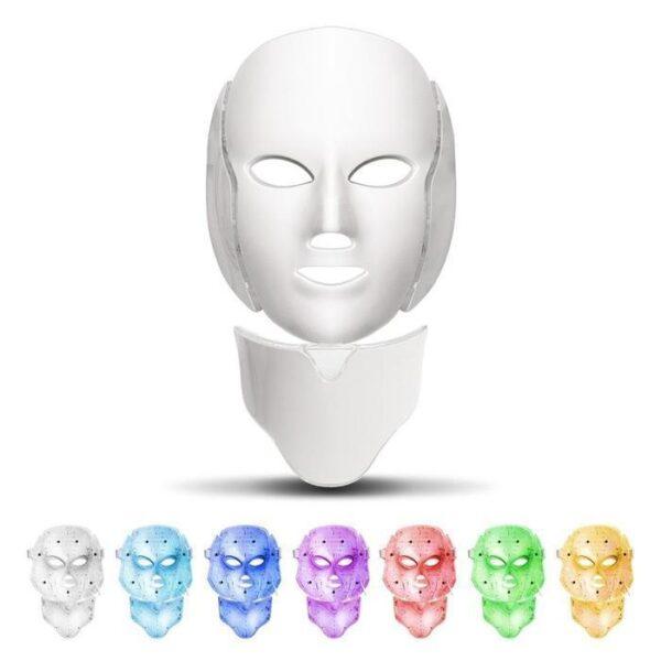 Máscara e Pescoço 7 Cores LED Tratamento Facial Estético Fototerapia - Loja Oficial | XploudShop