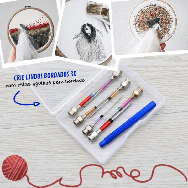 Easy Craft - Agulhas para Bordado (kit 10 peças) - Loja Oficial   XploudShop