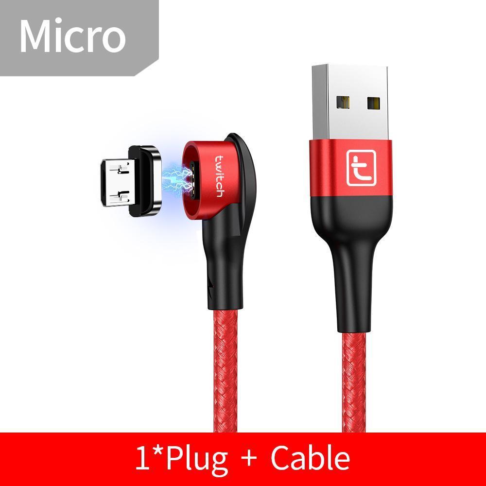 Twitch ® - Cabo e Conector Magnético (Tipo C, Iphone, Micro USB) - Loja Oficial | XploudShop