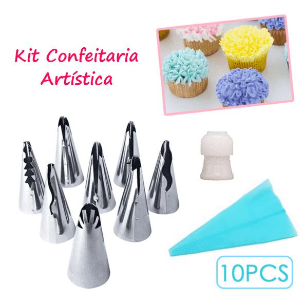 Kit de Bicos Inox Confeitaria Artística Decorador para Confeitar - Loja Oficial | XploudShop