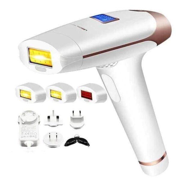 Depilador Rejuvenescedor Laser Depilação Permanente Tratamento Acne  Luz Pulsada Ajustável 1 Milhão de Disparos Branco - Loja Oficial | XploudShop