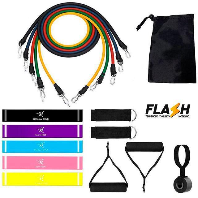 Kit Fitness - Elástico de Musculação - Loja Oficial   XploudShop