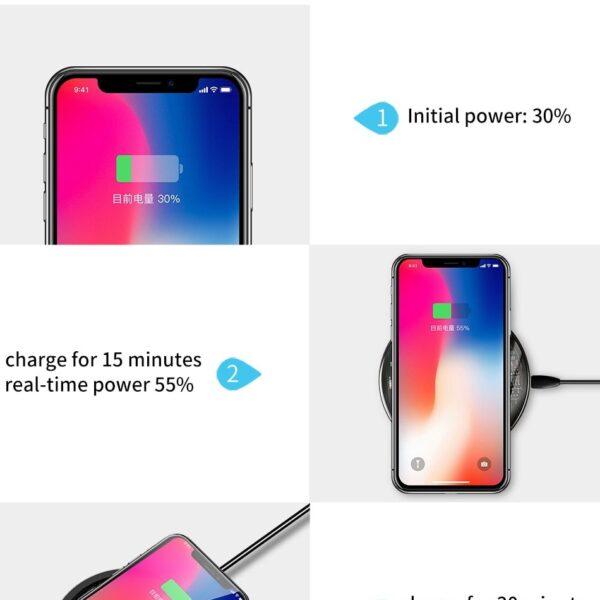 Carregador Wireless super rápido - Android + iOS - Loja Oficial   XploudShop