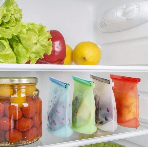 Saco Reutilizável para Alimentos Zip Fácil (4 peças) - Loja Oficial | XploudShop
