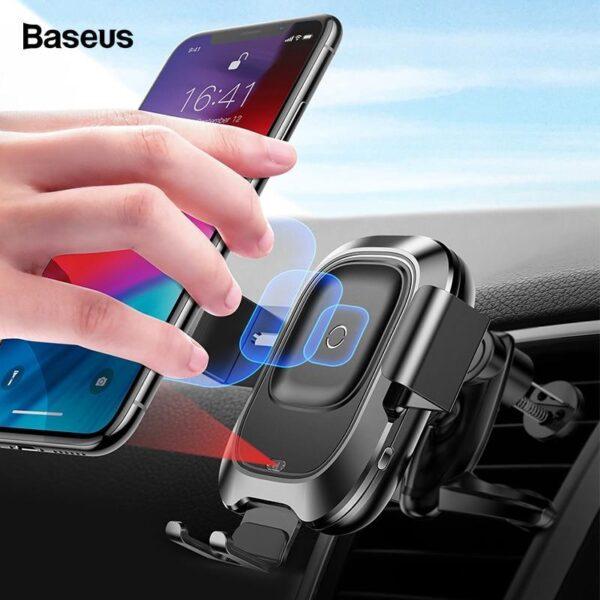 Base Carregadora Veicular Inteligente (Baseus) - Wireless - Loja Oficial   XploudShop