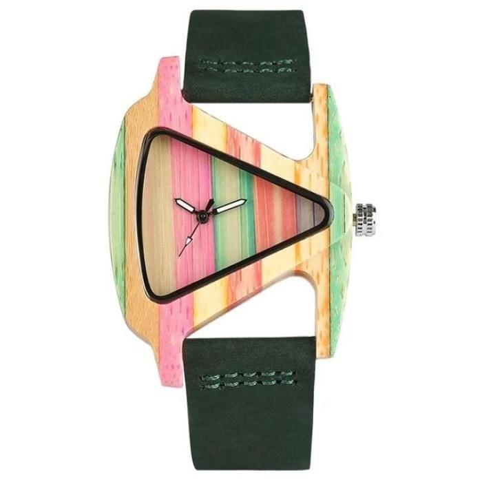 Relógio de Madeira Arco Íris - Loja Oficial | XploudShop